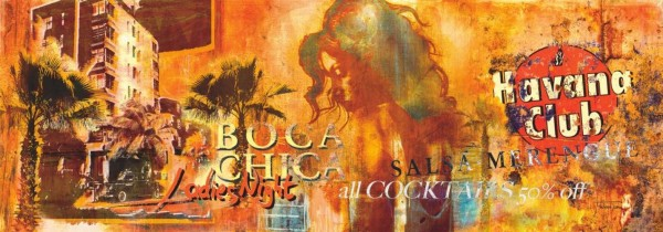 WOW Auswahl Glasbild 95x33cm Wandbild Bild Echtglasbild Boca Chica 11205