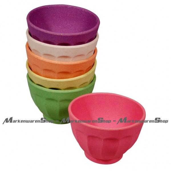 Zuperzozial - 6 Dessertschalen Rainbow Bio (1400230) Müslischale Schale Schüssel