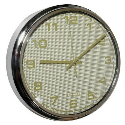 Cabanaz - Retro Wanduhr Uhr, Ø 30cm Rimini-Mustard Senf