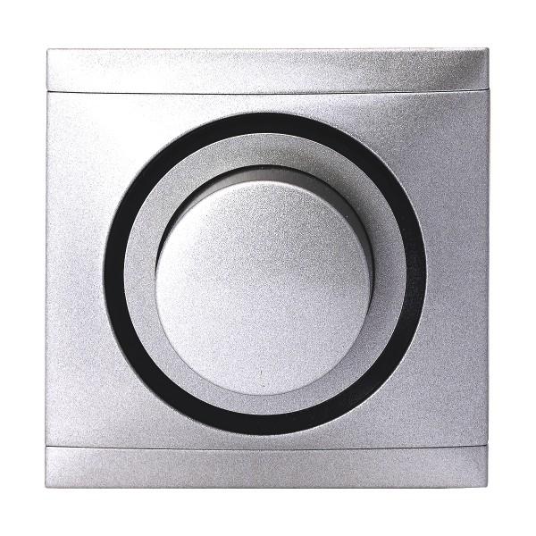 REV Titan-Silber Ascoli Helligkeitsregler Rahmen 929108 Lichtschalter Dimmer