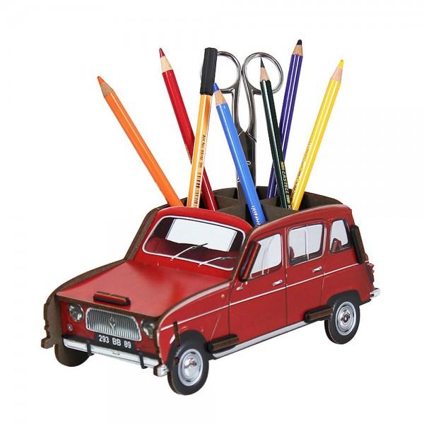 """Werkhaus - Stiftebox """"Renault R4"""" Rot (WE2092) Stifteköcher Stiftehalter Auto"""