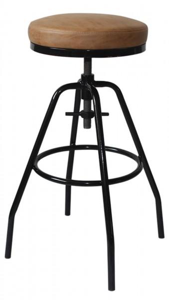 Ib Laursen - Barhocker H 65 - 77cm Metall Schwarz (2152-00) Stuhl Hocker Factory