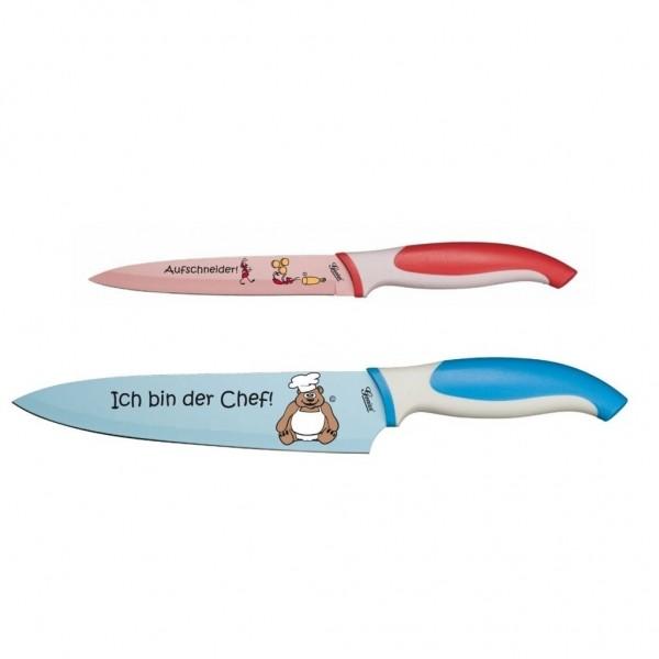 Genius - Cartoon Messer-Set 2-tlg. Küchenmesser Kochmesser 21081