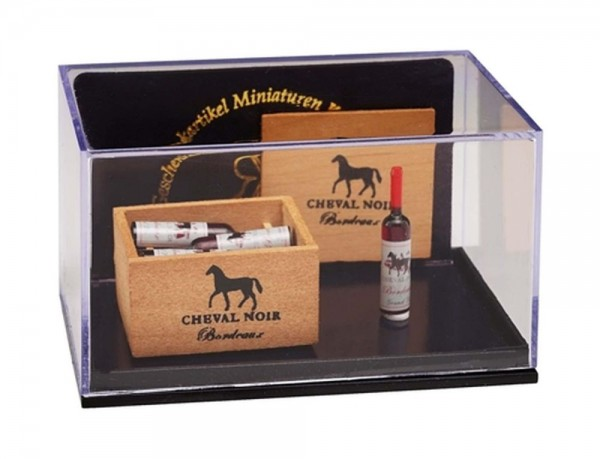 Reutter Miniaturen - Weinkiste mit Flaschen (1.853/6) Wein Set Puppenstube M1:12