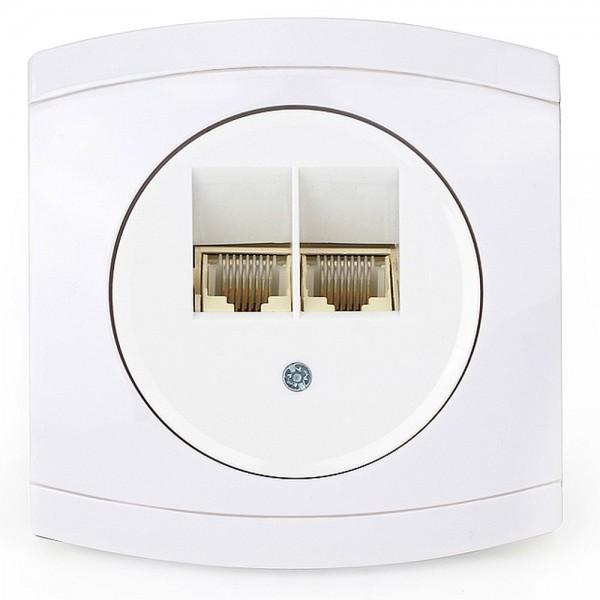 NEU Modena ISDN-Dose weiß 858204 Steckdose Dose Telefondose Netzwerkdose