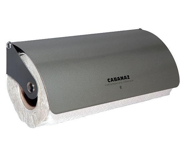 Cabanaz - Rollenhalter Küchenrollenhalter Kurz, in grau