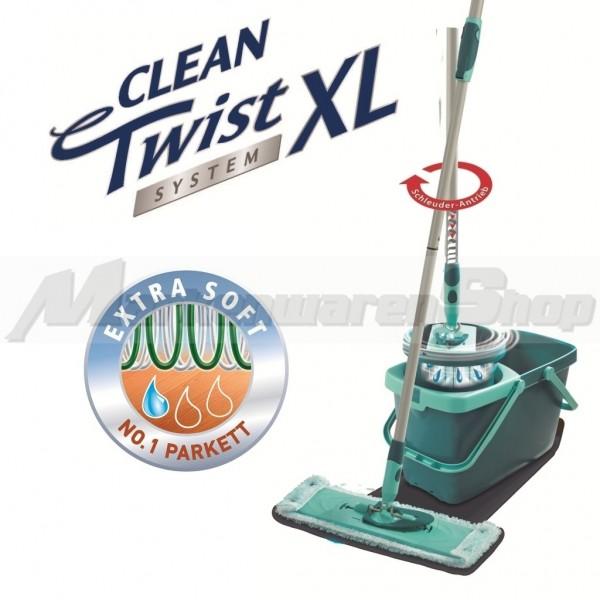 Leifheit Clean Twist System XL Extra Soft, Bodenwischer, Wischer 52015