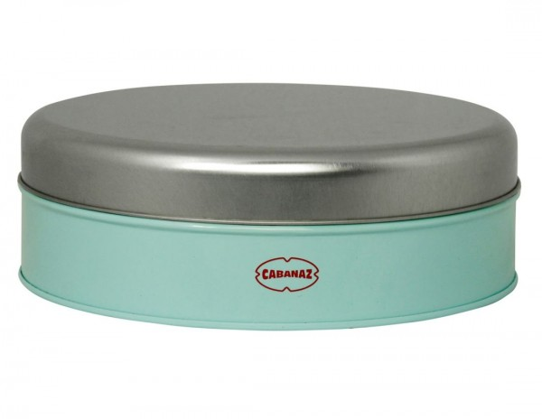 Cabanaz - Cookie Box Blau (1201095) Ø20,5cm Gebäckdose Keksdose Dose Vorratsdose