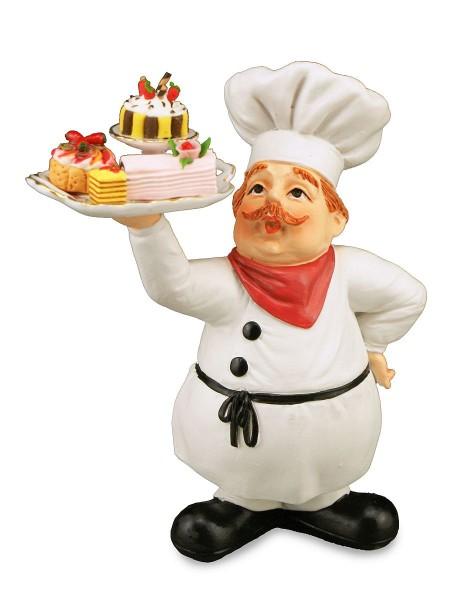Reutter - Kuchenbäcker mit Miniaturen (1.781/3) Bäcker Dekofigur Bäckerfigurn