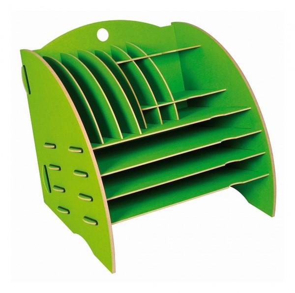 Werkhaus - Ablage Big Organizer Grün Briefablage Stiftehalter Schreibtisch