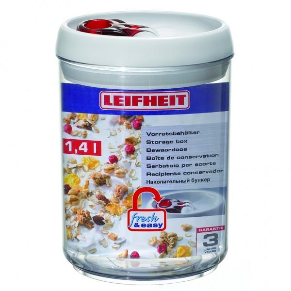 Leifheit Vorratsbehälter, Vorratsdose fresh & easy 1,4l rund
