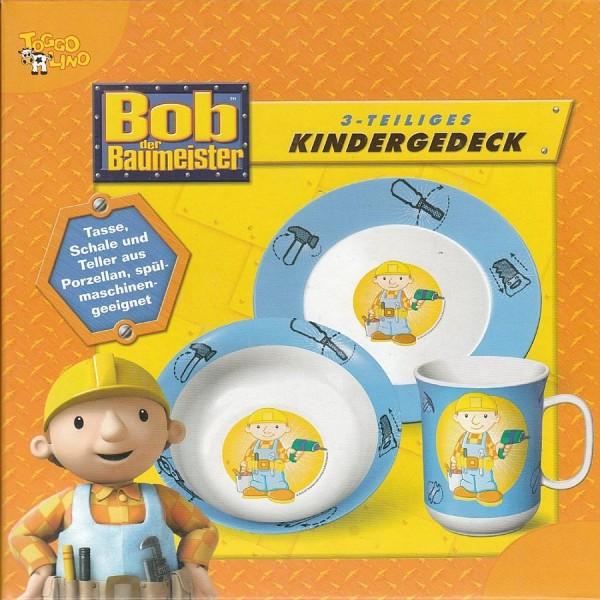 NEU 1. Wahl Kindergedeck Bob der Baumeister 3-teilig Kinder-Set Kindergeschirr
