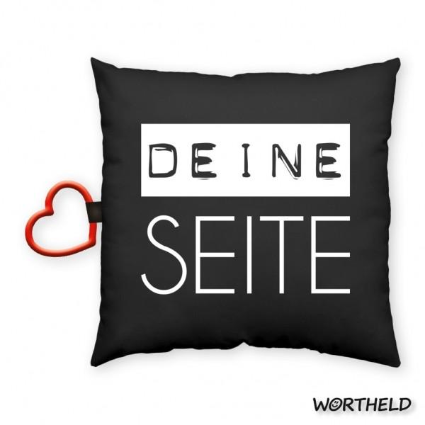 """Sheepworld - Wortheld Dekokissen Kuschelkissen Kissen """"DEINE SEITE"""" 43086"""