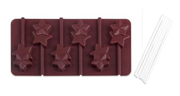"""Dr. Oetker - Pralinenform 2er Set """"Lolli Sterne"""" 1295 Schokoladenform Confiserie"""