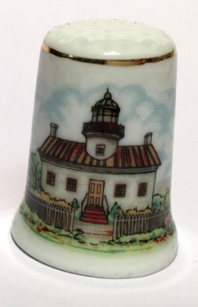 """Reutter Porzellan Miniaturen - Fingerhut """"Leuchtturm"""" Motiv 3 (80.244/1)"""