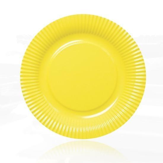 Contento - Picnic Fast Food Teller Ø23cm gelb (656451) Grillteller Campingteller
