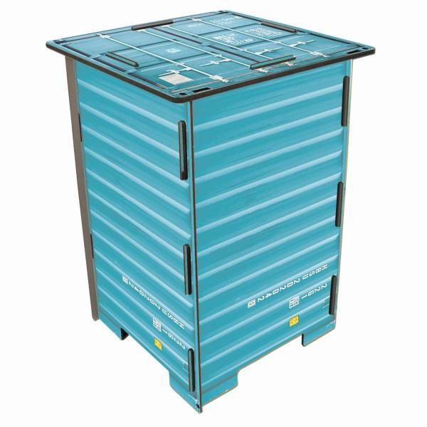 """Werkhaus - Photo - Hocker """"Container"""" Türkis Stuhl Sitz Sitzmöble Tisch (CO1043)"""