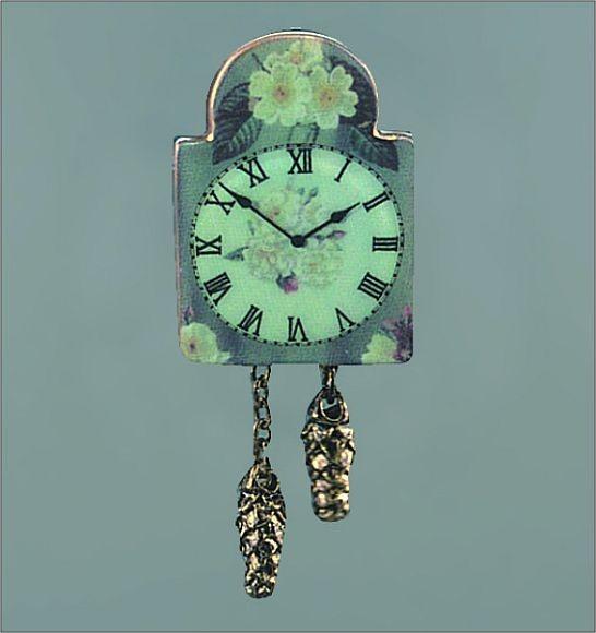 Reutter Porzellan Miniaturen - Englische Rosen-Uhr (1.403/5) Uhr Wanduhr