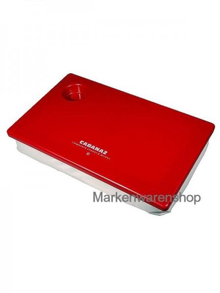 Cabanaz - Knietablett Schoßtablett Tablett, rot/beige