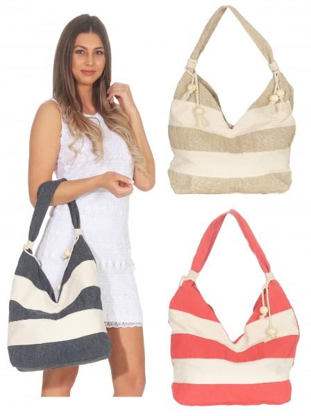 Tasche Shopper Damentasche Gestreift