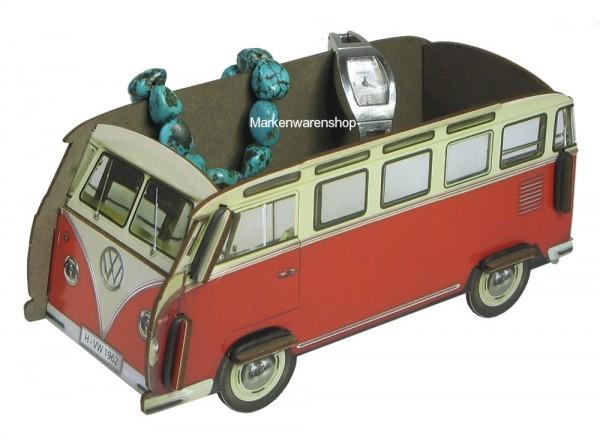 "Werkhaus - Minibox VW Bus ""Bulli"" rot/weiß (WH3008) Box Utensilienbox Stiftebox"
