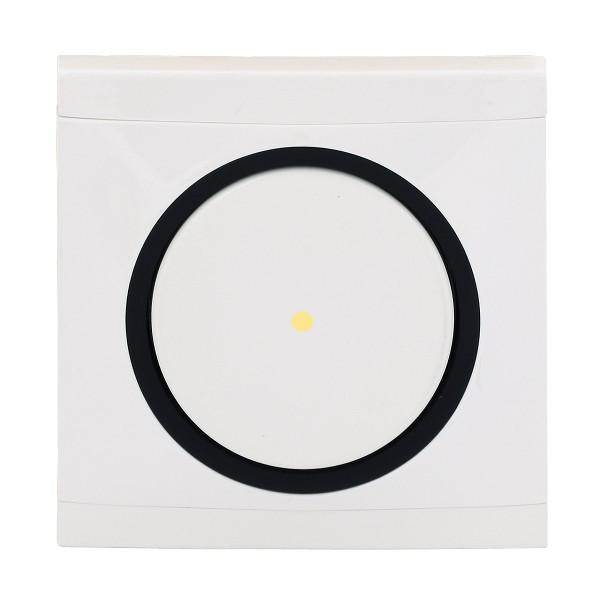 REV Ascoli weiß/schwarz Kontroll-Wechselschalter m. Rahmen 924104 Lichtschalter