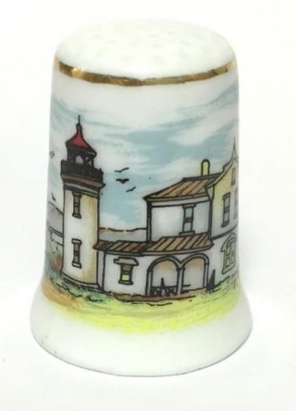 """Reutter Porzellan Miniaturen - Fingerhut """"Leuchtturm"""" Motiv 1 (80.244/1)"""