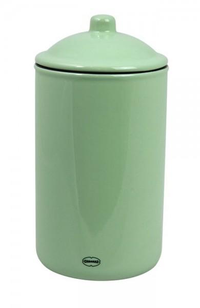 Cabanaz - Vorratsdose Keramik 1l Grün dicht 1201731 Dose Kaffeedose Vorratsglas