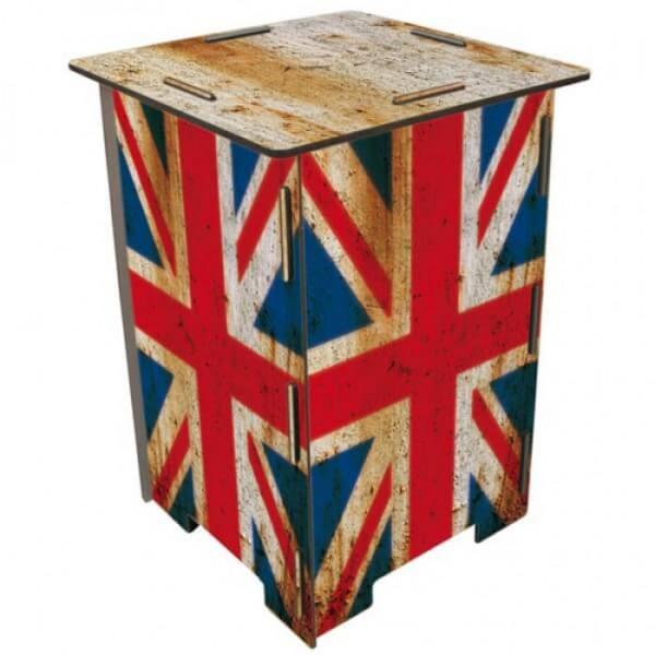 Werkhaus - Hocker Kinderhocker Sitzmöbel Tritt, Holz, Flagge England