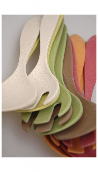 Farbauswahl - Salatbesteck Zuperzozial biologisch abbaubar Servierbesteck