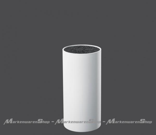 Zassenhaus - Messerblock rund weiß mit flexiblem Borsteneinsatz (078022)