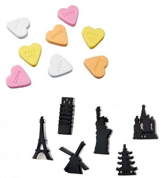 Auswahl THE ZOO Magnete für Pinnwand Whiteboard Magnettafel Memoboard