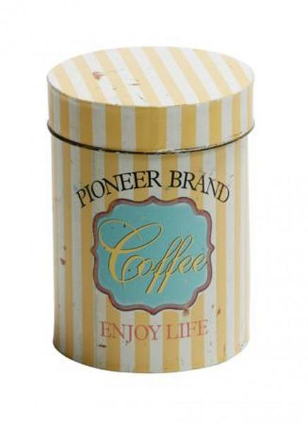 "EJA - Dose ""Coffee"" 1375002 Dekodose Metalldose Kaffeedose Retro Shabby Vintage"