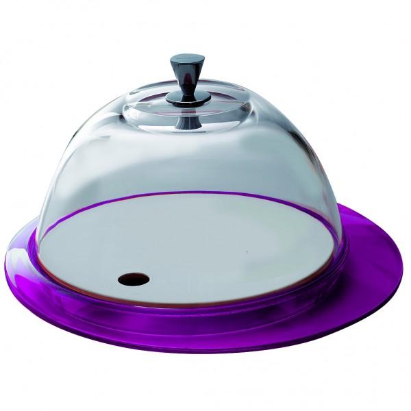 Casa Bugatti - Käseglocke, Tortenplatte, violett