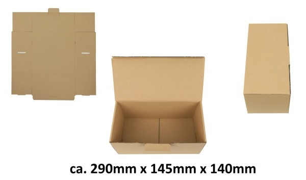 300 Versandkarton stabil für zerbrechliche Artikel geeignet Karton ca.29x15x14cm