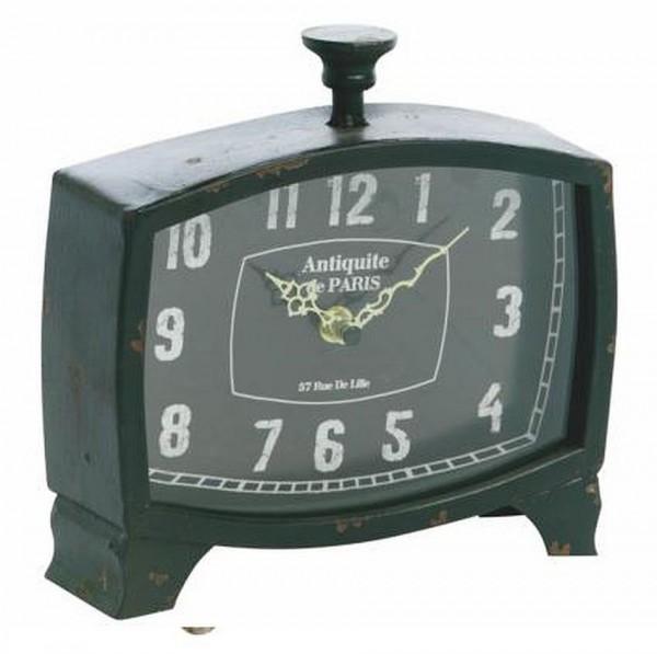EJA - Uhr Tischuhr Stehuhr Schwarz (2100302) Retro Antik - Look Shabby Vintage
