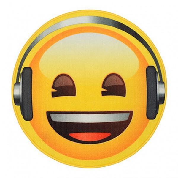 """Rockbites Teppich """"Emoji Face Headphones"""" Ø 67cm Läufer Fuß Schmutz Matte 100927"""