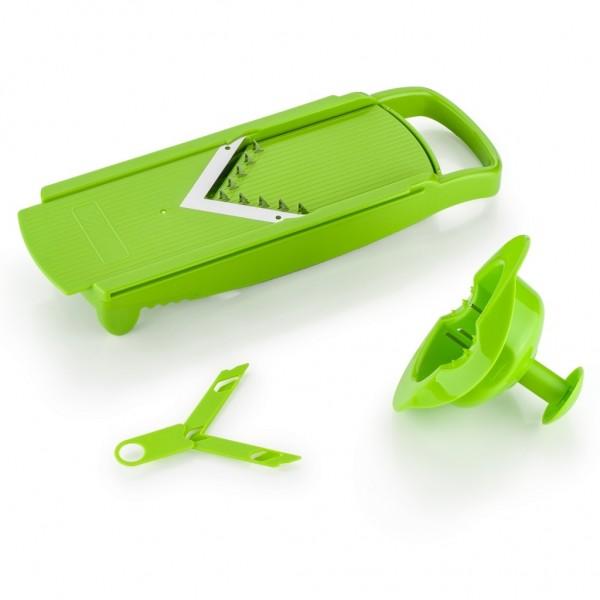 Genius - Speed Slicer Set 3tlg. Gemüseschneider Gemüsehobel grün 17139