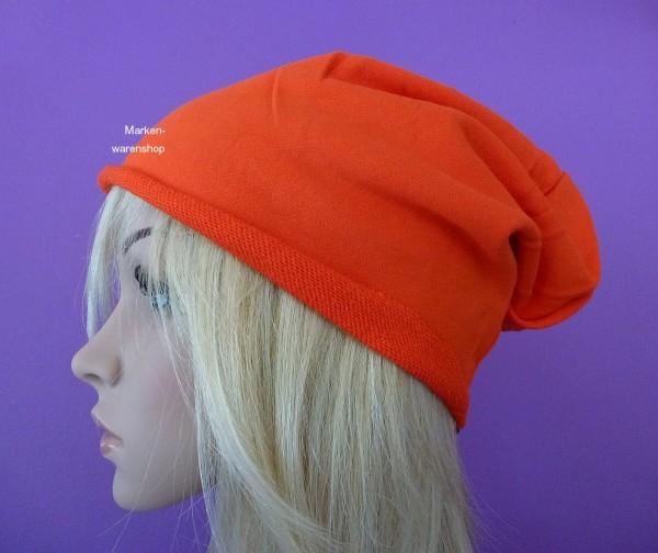 Markenwarenshop - Long Beanie Slouch Orange Kappe Mütze Damen Herren