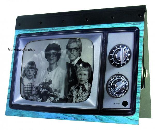 Werkhaus - TV Mappe A4 blau PM7208 Schreibmappe Fotomappe Klemmmappe Klemmbrett