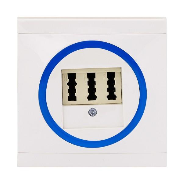 REV Ascoli weiß/blau TAE-Dose Telefon-Dose Dose inkl. Rahmen 928104