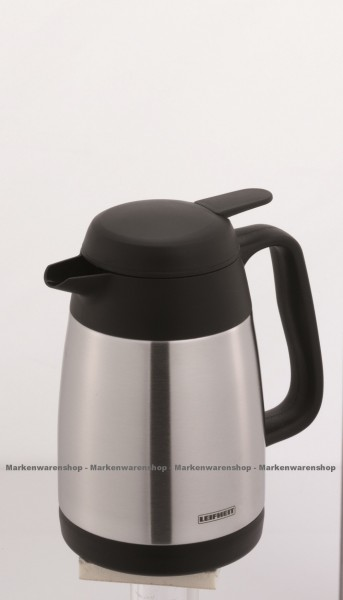 Leifheit - Isolierkanne Style 0,6L (28508) Thermoskanne Kaffeekanne Edelstahl