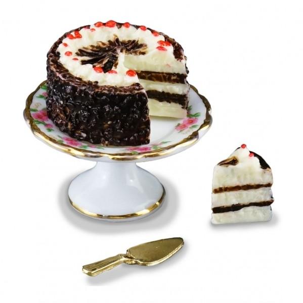 Reutter Porzellan Miniaturen - Schwarzwälderkirschtorte 1.662/5 Torte Kuchen