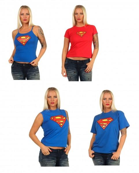 DC Comics T-Shirt Superhelden Superwomen Figurbetont Frauen Women