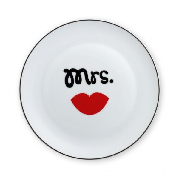 """Sheepworld Gruss & Co - Teller """"Mrs."""" Kuchenteller Frühstücksteller 42714"""