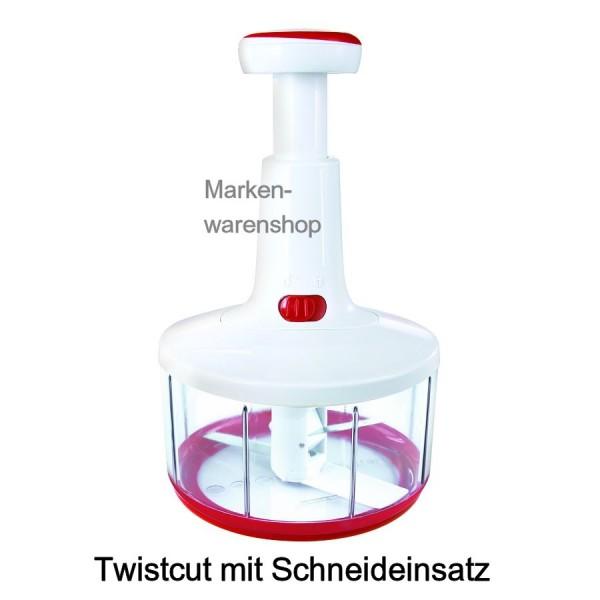 Leifheit - Twistcut Obstschneider Gemüseschneider Küchenmaschine manuell (23041)