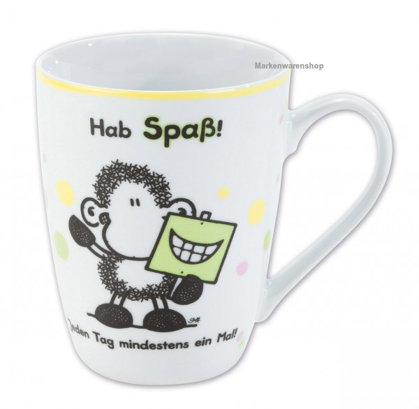 "Sheepworld - Tasse ""Hab Spaß"" (59242 Nr. 13 alt) Lieblingstasse Kaffeetasse"