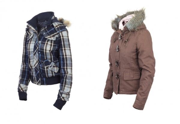 Neue warme Winter Kinderjacke braun od. Blau mit Reißverschluß und Kapuze
