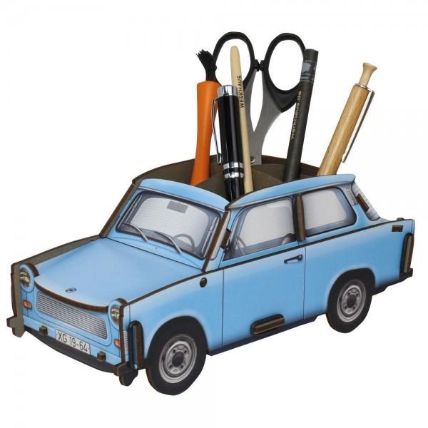 """Werkhaus - Stiftebox """"Trabant"""" Blau WE2019 Stifteköcher Stiftehalter Box Trabbi"""