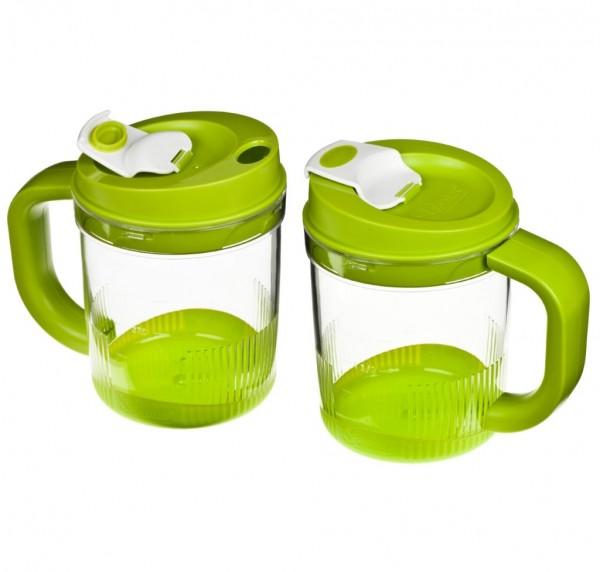 Genius - Twist N Joy Behälterset Auffangbehälter Trinkbecher 4-tlg. grün 29109